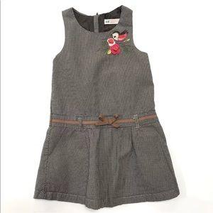 H&M Jumper Houndstooth Bird Dress 4 5